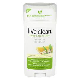 Live Clean Deodorant - Sparkling Citrus - 71g