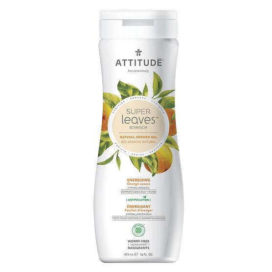 Attitude Super Leaves Science Natural Shower Gel - Energizing Orange Leaves - 473ml