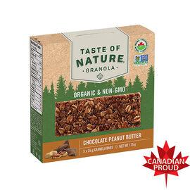 Taste Of Nature Granola Bar - Chocolate Peanut Butter - 5 x 35g