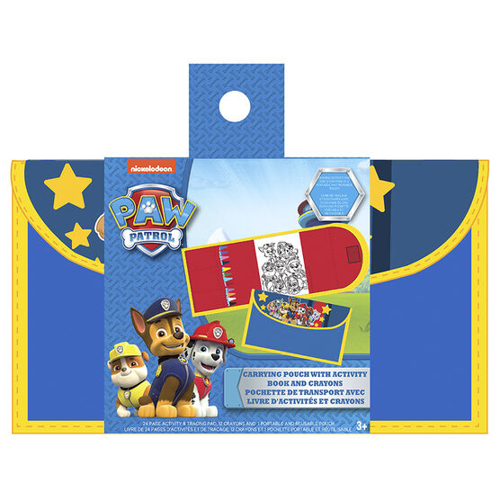 Paw Patrol Boy's Activity Set - Includes Pouch with Book and Crayons