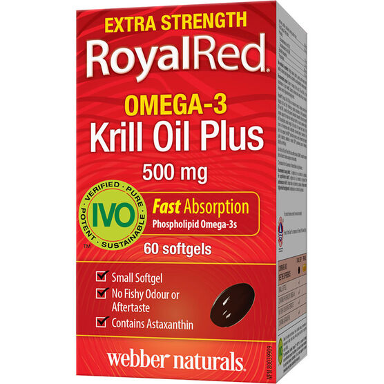 Webber Naturals RoyalRed Omega-3 Krill Oil Softgels - 60's