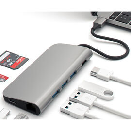 Satechi USB-C Multiport Adapter Hub - Space Grey - ST-TCMAM