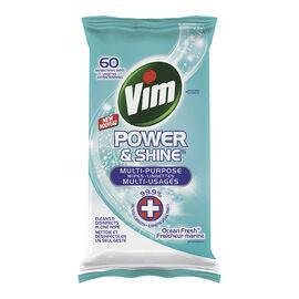 Vim  Power & Shine Wipes - Ocean Fresh - 60's