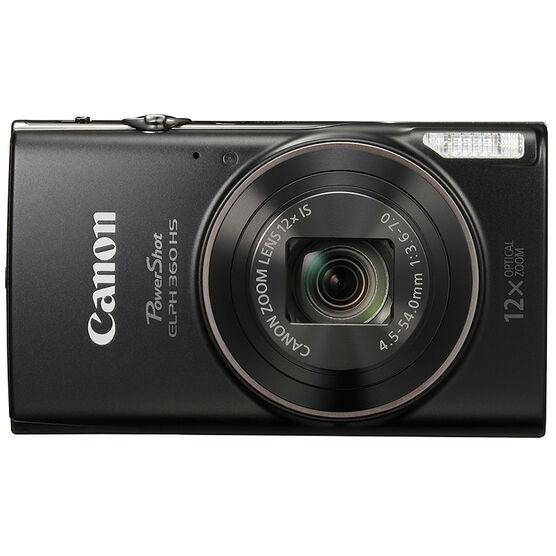 Canon PowerShot ELPH 360 HS - Black - 1075C001