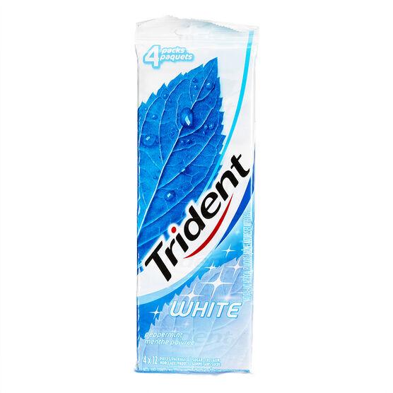 Trident White Gum - Peppermint - 4 x 12 pieces