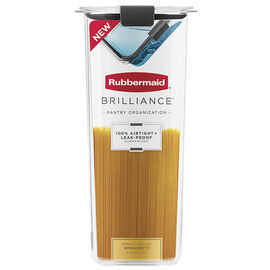 Rubbermaid Brilliance Pantry Canister - Spaghetti - 8.1 cup