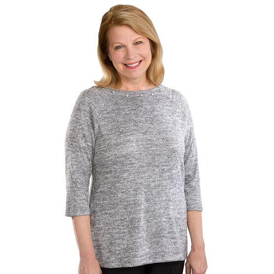 Silvert's Women's Open Back Sweater Knit Top - Small - XL