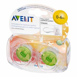 Avent Infant Orthodontic Pacifier - Assorted - 0-6 months