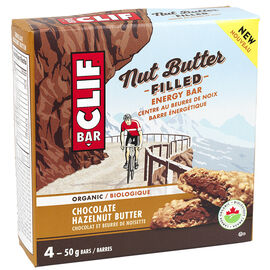 Clif Bar Nut Butter Filled Energy Bar - Chocolate Hazelnut Butter - 4 x 50g