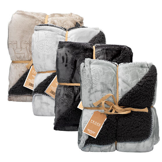 Prose Elephant Etched Luxury Berber Throw - Assorted - 50 x 60in