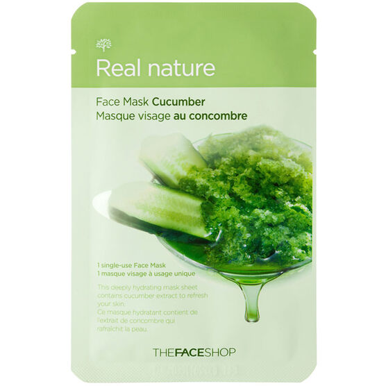 Real Nature Face Mask - Cucumber - 20g