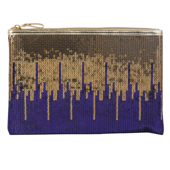 Modella Vibrant Volume Flat Pouch - Purple - A005081LDC