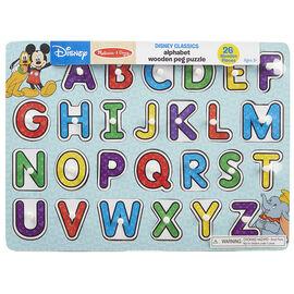 Melissa & Doug Disney Alphabet Peg Puzzle