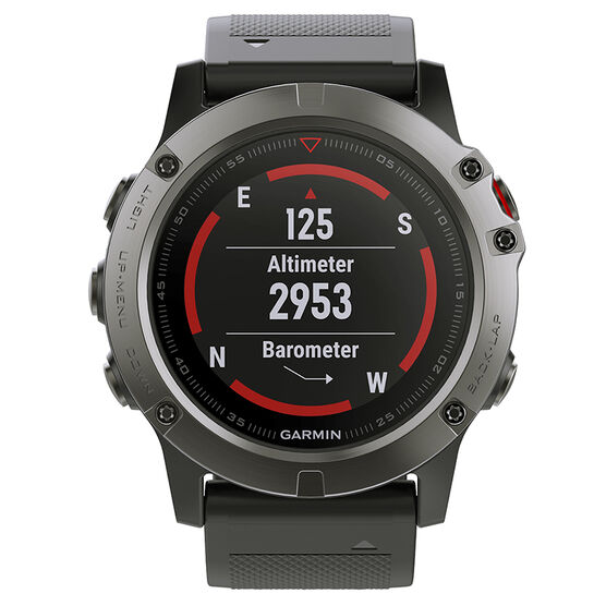 Garmin Fenix 5X Sapphire Watch - Slate Gray with Black Band - 0100173305