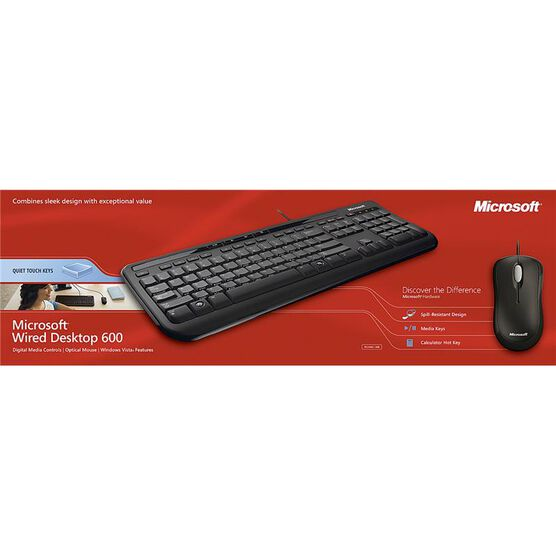 Microsoft Wired Desktop 600 - Black