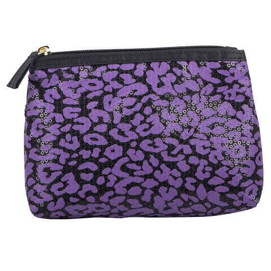 Modella Feline Cosmetic Bag - Purple - A004994LDC