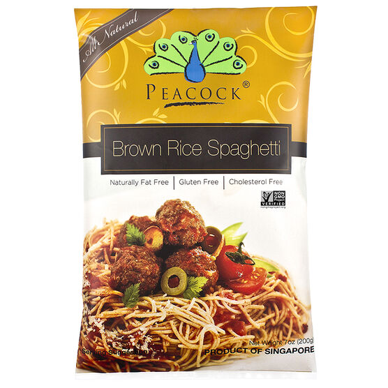 Peacock Brown Rice Spaghetti - Gluten Free - 200g