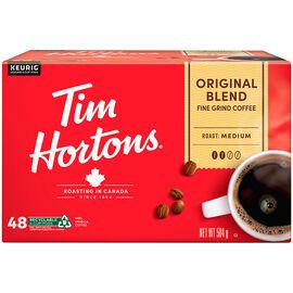 K-Cup Tim Hortons Coffee - Original Light-Medium Roast Blend - 48 Pack