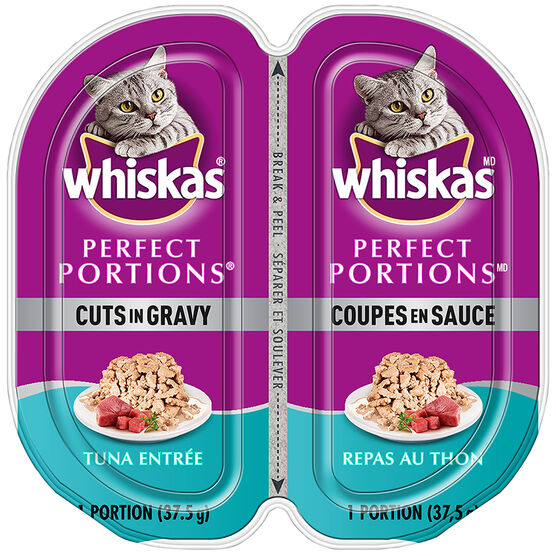 Whiskas Perfect Portion Cuts in Gravy - Tuna Entrée - 2 x 37.5g
