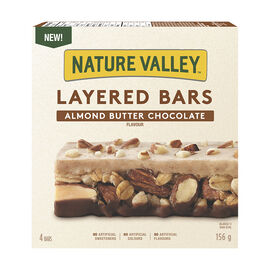 Nature Valley Layered Granola Nut Bars - Almond Butter Chocolate - 156g