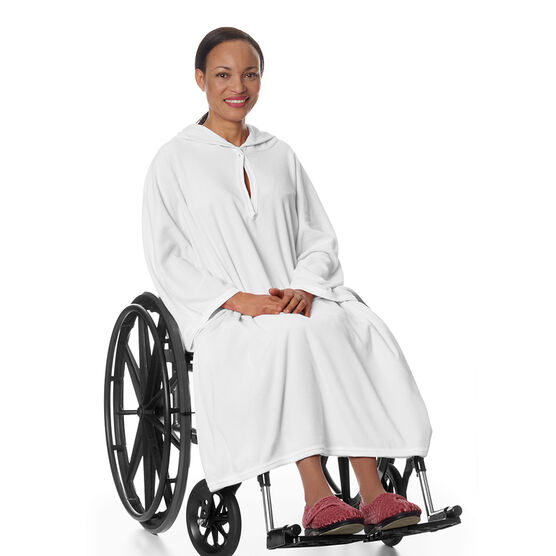 Silvert's Terry Shower Cape - White