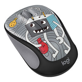 Logitech M325c Doodle Collection Wireless Mouse - Lightbulb - 910-005025