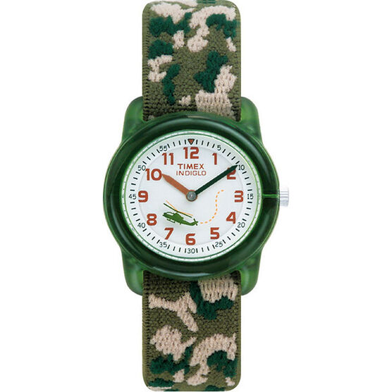 Timex Youth Boys Analogue Watch - Camo/Green - T78141KU