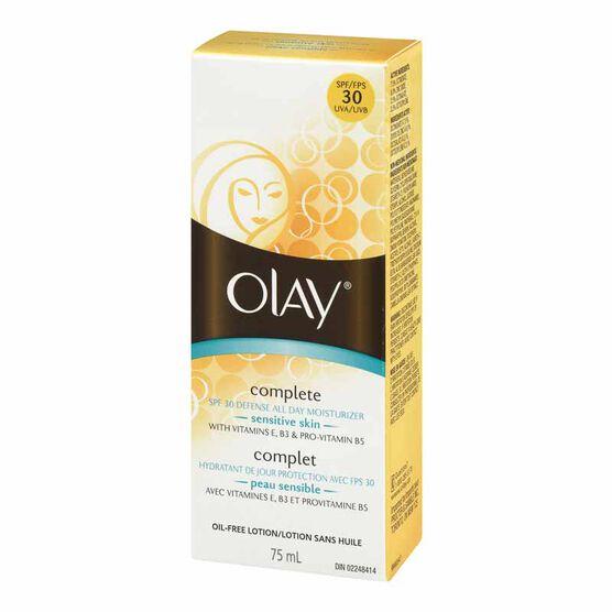 Olay Complete SPF 30 Defense Daily UV Moisturizer - Sensitive Skin - 75ml