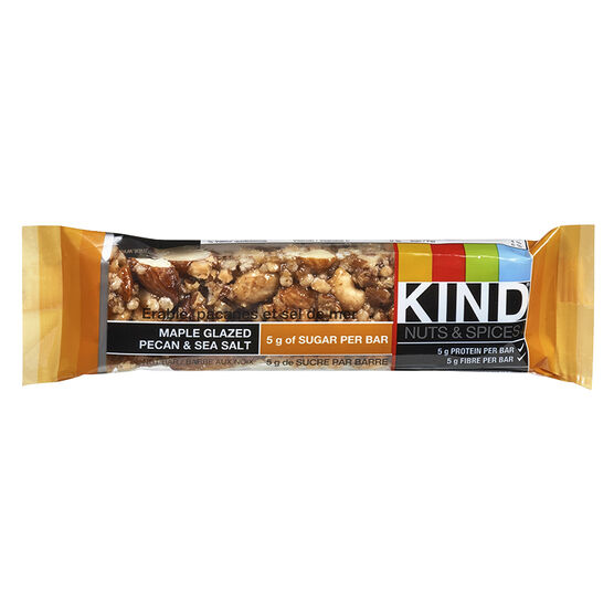 Kind Nuts & Spices Bar - Maple Glazed Pecan & Sea Salt - 40g
