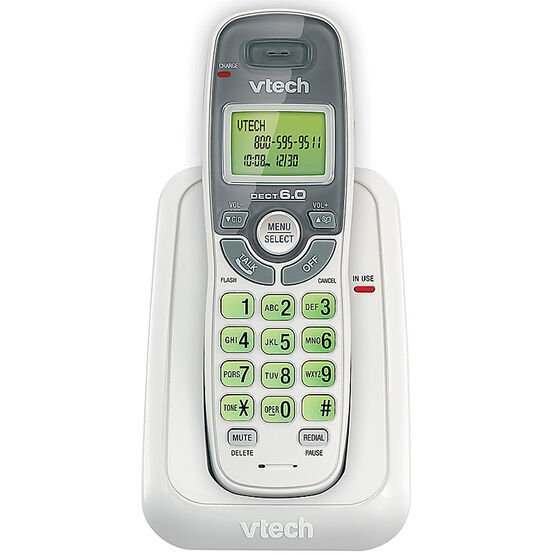Vtech Cordless Phone with Caller ID/Call Waiting - White - CS6114