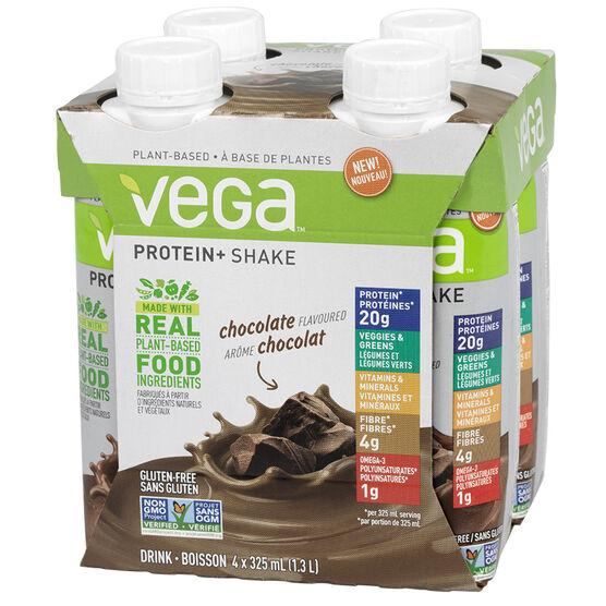 Vega Protein+ Shake - Chocolate - 4 x 325ml