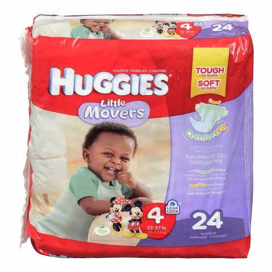 Huggies Little Movers Disposable Diaper - Size 4 - 24's