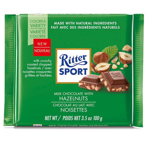 Ritter Sport Chocolate Bar - Chopped Hazelnut - 100g
