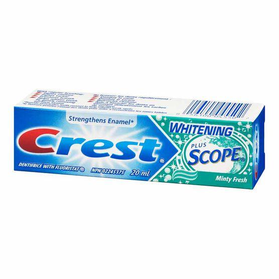 Crest Whitening Plus Scope Toothpaste - Minty Fresh Striped - 20ml