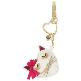 Betsey Johnson Pink Heart Fob Key Chain Ring