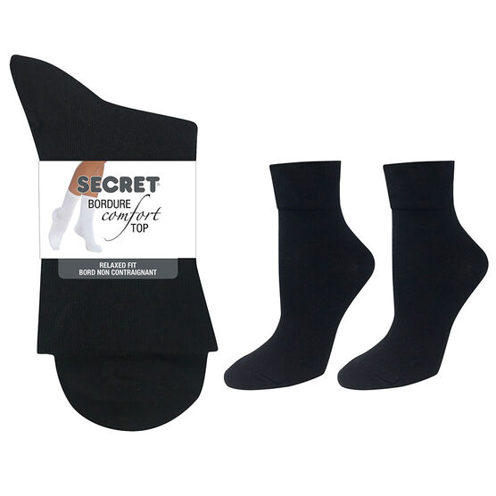 Secret Comfort Top Collection Non-Bind - Black - 2 pair