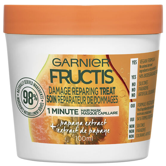 Garnier Fructis Smooth Treat 1 Minute Hair Mask - Papaya - 100ml