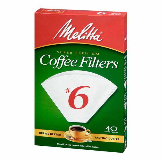 Melitta Coffee Filters - No.6 - White - 40's
