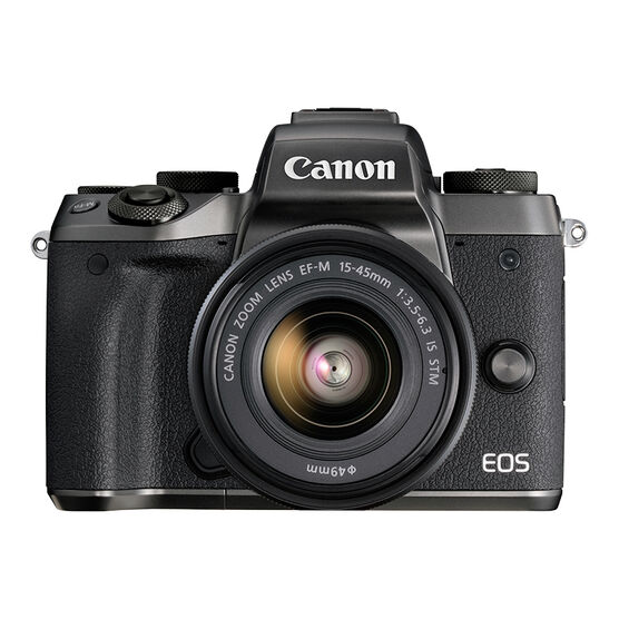 Canon EOS M5 Body with 15-45mm  f/3.5-6.3 IS STM Lens - Black - 1279C011