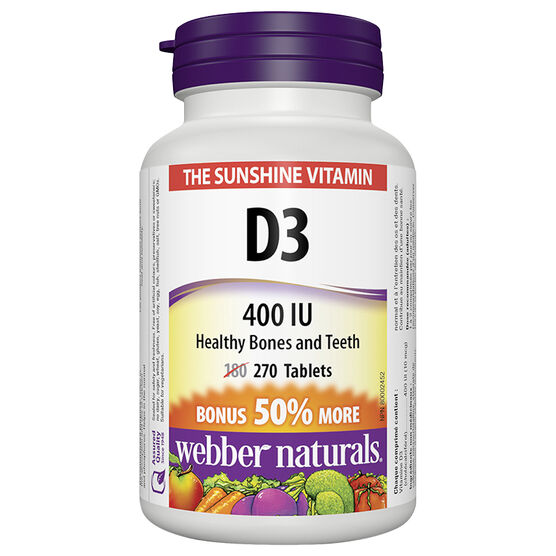 Webber Naturals Vitamin D 400IU - 180's