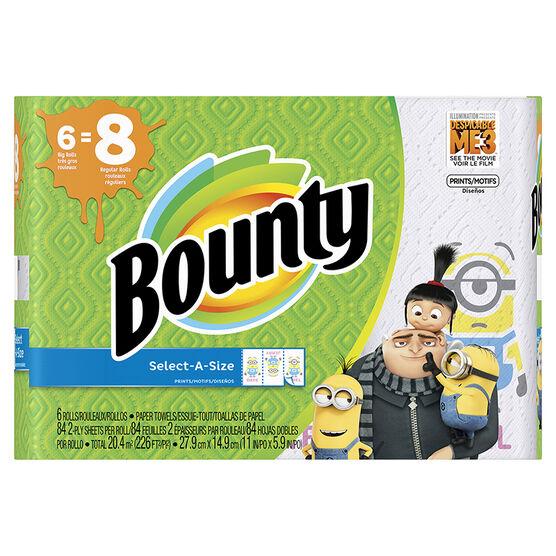 Bounty Select-A-Size Paper Towels Prints - Big Roll - 6's