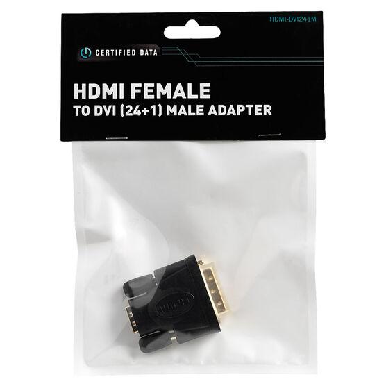 Certified Data HDMI Female to DVI (24+1) Male Adapter - HDMI-DVI241M