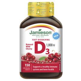 Jamieson Fast Dissolving D3 1000 IU - Natural Wild Cherry - 150's