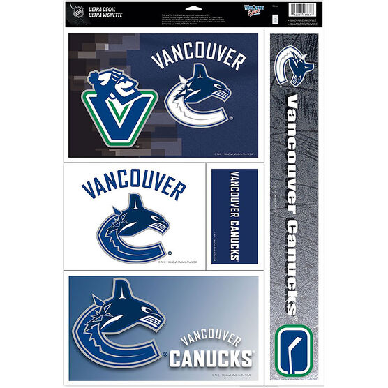 Vancouver Canucks NHL Car Window Cling Decal - 279 x 432mm