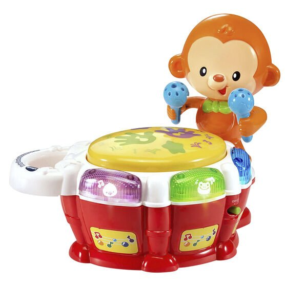VTechs Baby Beats Monkey Drum - 80503200