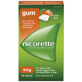 Nicorette Gum - Fresh Fruit - 4mg - 30's