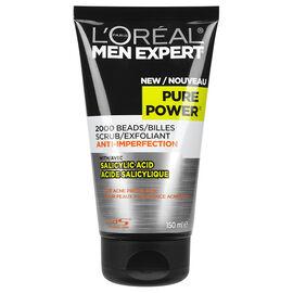 L'Oreal Men Expert Scrub for Acne Prone Skin - Pure Power - 150ml