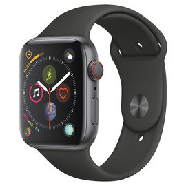 Apple Watch Series 4 - GPS + Cellular - 44mm - Space Grey/Black Sport Band - MTUW2VC/A