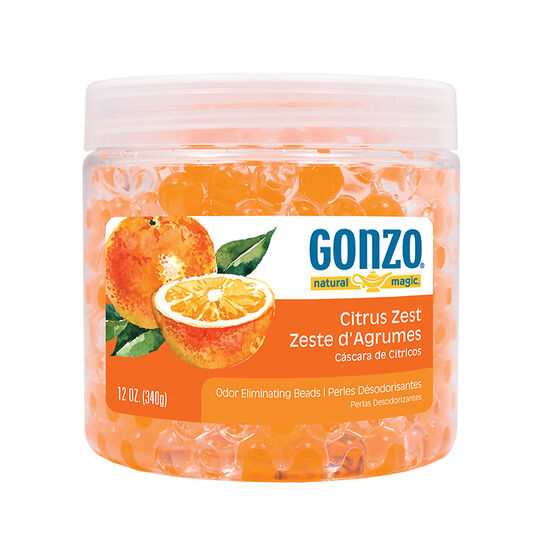 Gonzo Natural Magic  Odor Eliminating Beads - Citrus Zest - 340g