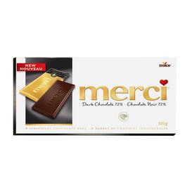 Merci Chocolate - 72% Dark Chocolate - 4 Bars/100g